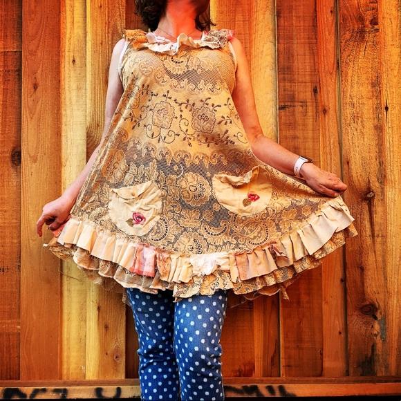 Boho Tunic 1 X Lagenlook Tops Boho Hippie Plus Size Tops Sleeveless Floral Shabby Chic